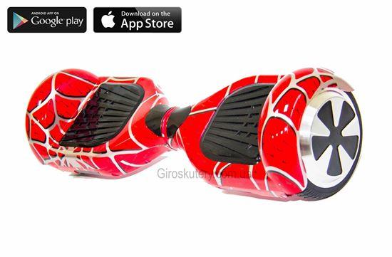 Гироскутер Classic 6.5′ Digital Spider Man (Приложение к телефону, Самобаланс, Led, Bluetooth, сумка)