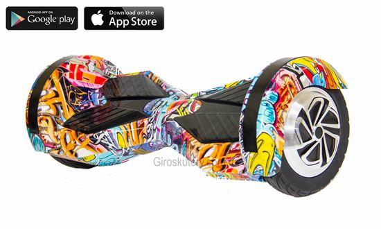 Гироскутер Lambo 8′ Digital Hip - Hop Violet (Приложение к телефону, Самобаланс, Led, Bluetooth, сумка)