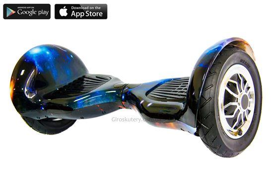 Гироскутер Allroad 10' Digital Sun and Earth (Приложение к телефону,Самобаланс, Led,Bluetooth,сумка)