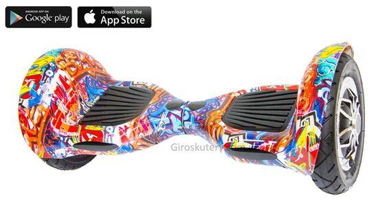 Гироскутер Allroad 10' Digital Hip - Hop Violet (Приложение к телефону, Самобаланс, Led,Bluetooth,сумка)