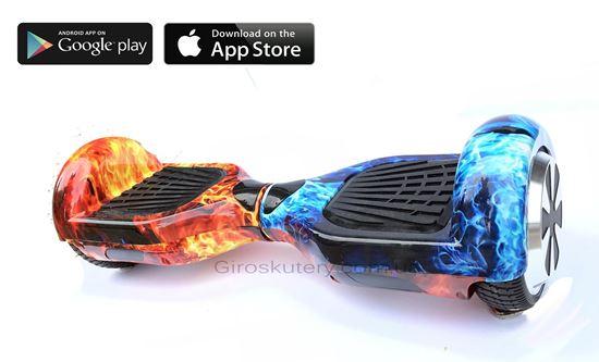 Classic 6.5′ Digital Ice and Fire (Приложение к телефону, Самобаланс, Led, Bluetooth, сумка)