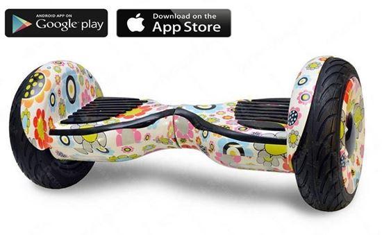 Гироскутер Allroad 10.5' Future Digital Hip - Hop (Приложение к телефону, Самобаланс, Led,Bluetooth,сумка)