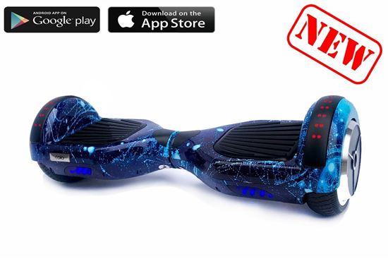 Изображение Гироскутер OIO Classic 6.5′ Digital Cosmos Blue (Приложение к телефону, Самобаланс, Led, Bluetooth, Сумка, Дополнительная подсветка на крыльях)