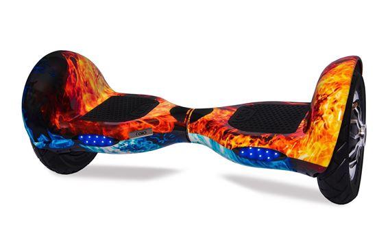 Гироскутер Allroad 10' Digital Ice and Fire (Приложение к телефону, Самобаланс, Led, Bluetooth, сумка)